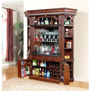 Parker House Wellington 4 pc Bar Base and Hutch