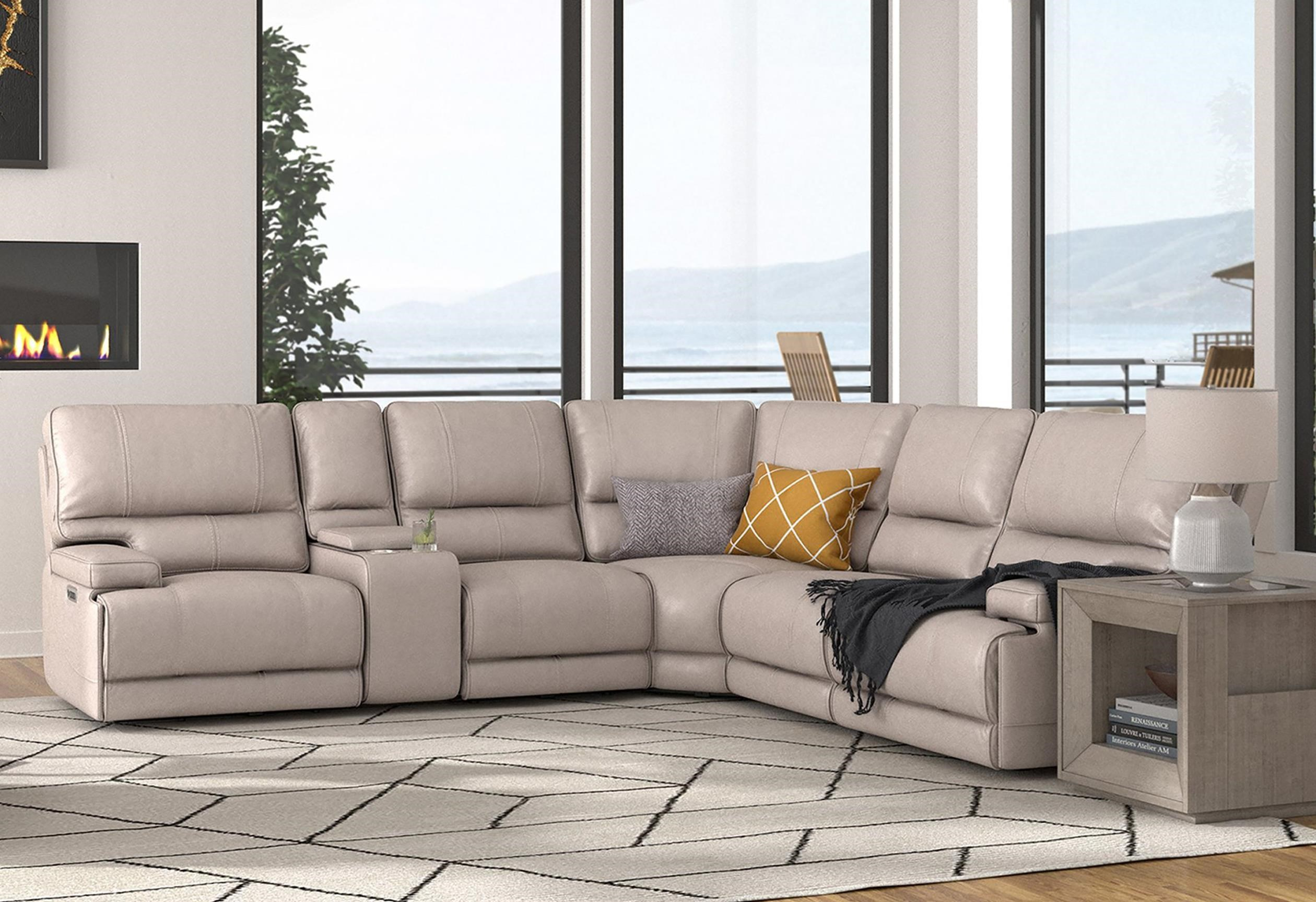 Whitman 6 Piece Power Cordless Sectional by Parker House at Johnny Janosik