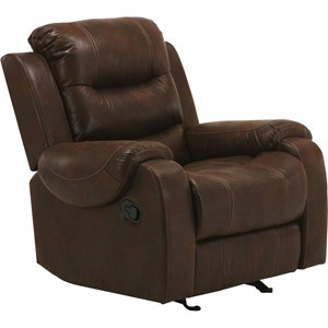 Casual Glider Recliner with Padded Arms