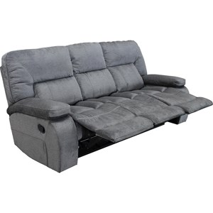 Casual Triple Reclining Sofa with Pillow Arms