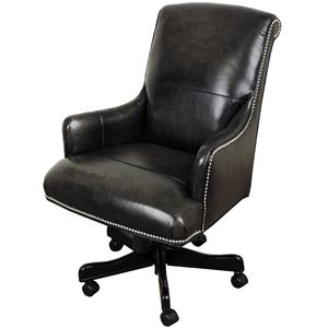 Executive Chair with Track Arms and Nail Head Trim