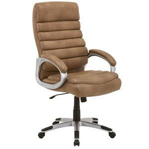 Desk Chair with Ribbed Seat and Seat Back