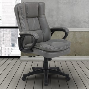 Contemporary Desk Chair with Rounded Arms