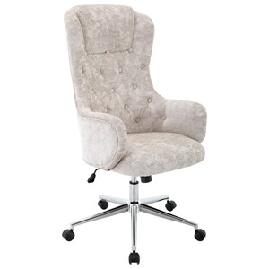 Transitional Fabric Desk Chair