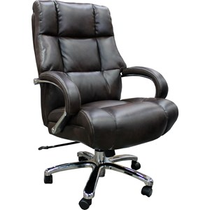 Heavy Duty Desk Chair with Curved Track Arms