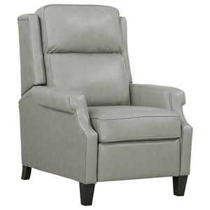 Leather Match Pushback Recliner