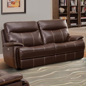 Dual Reclining Two Cushion Sofa with Power Headrest and USB Charging Port