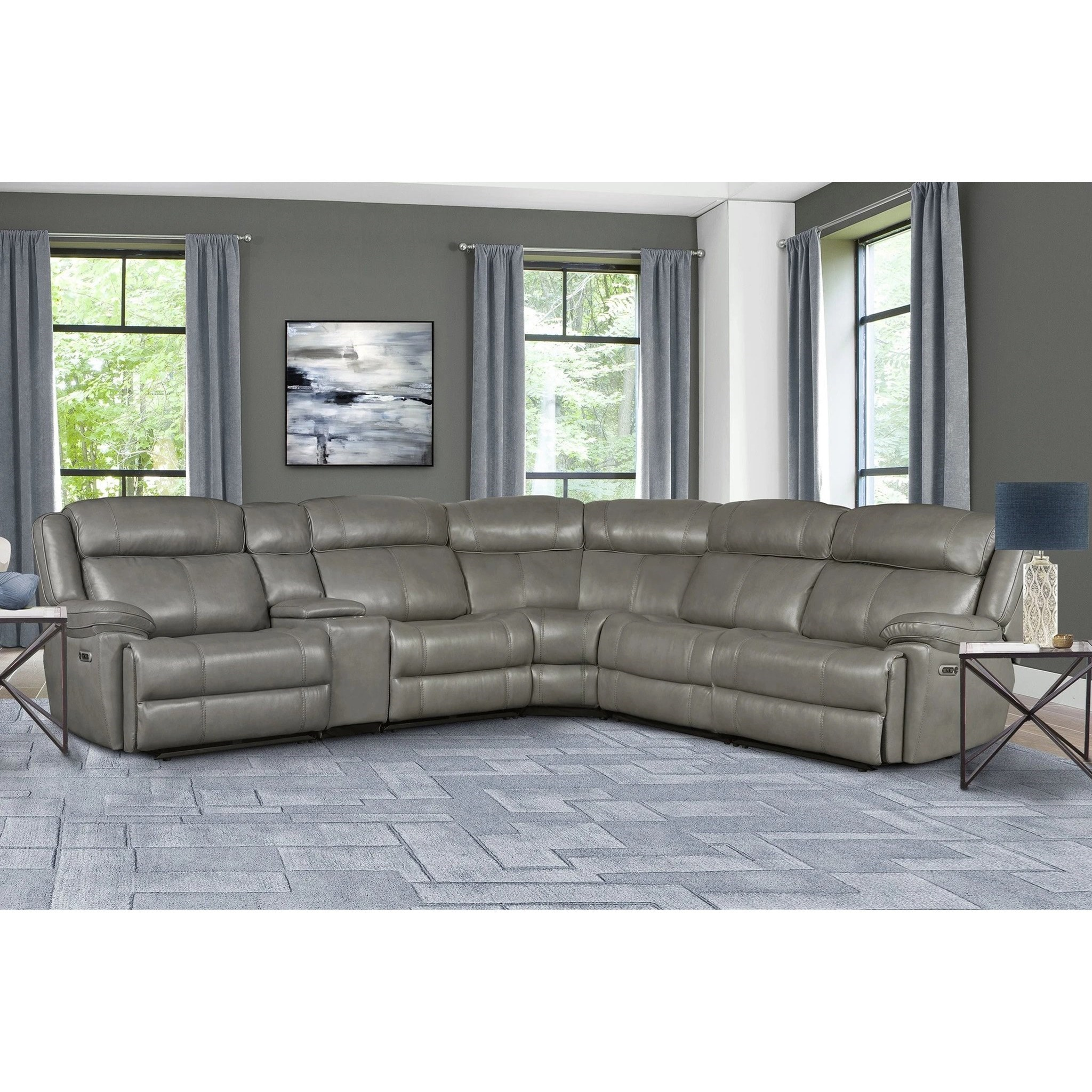 Eclipse Power Reclining Sectional by Parker Living at Suburban Furniture