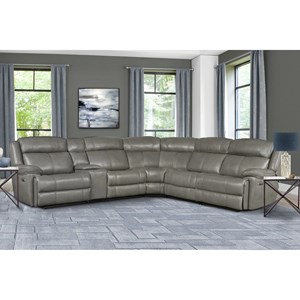 Power Reclining Sectional with Power Headrests and USB Ports