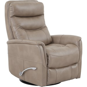 Contemporary Swivel Glider Recliner with Padded Arms