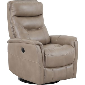 Contemporary Swivel Glider Power Recliner with Padded Arms