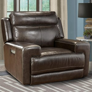 Contemporary Power Recliner with Power Articulating Headrest