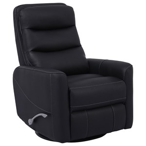 Contemporary Swivel Glider Recliner with Articulating Headrest
