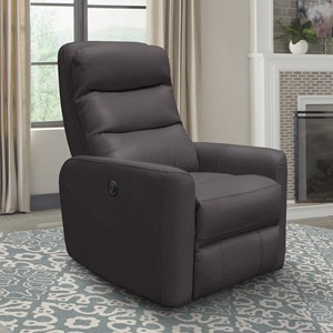 Contemporary Power Swivel Recliner with Adjustable Headrest