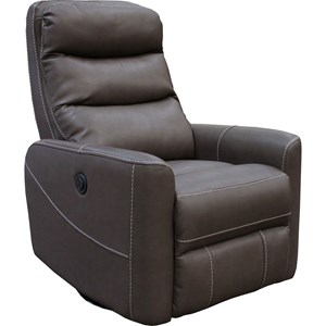 Contemporary Power Swivel Recliner with Articulating Headrest