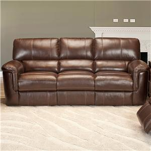Casual Duel Power Reclining Sofa with Pillow Top Arms