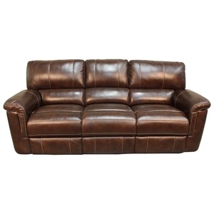 Casual Dual Power Reclining Sofa with Pillow Top Arms