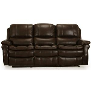 Dual Power Reclining Sofa with Pillow Arms and Bucket Seats
