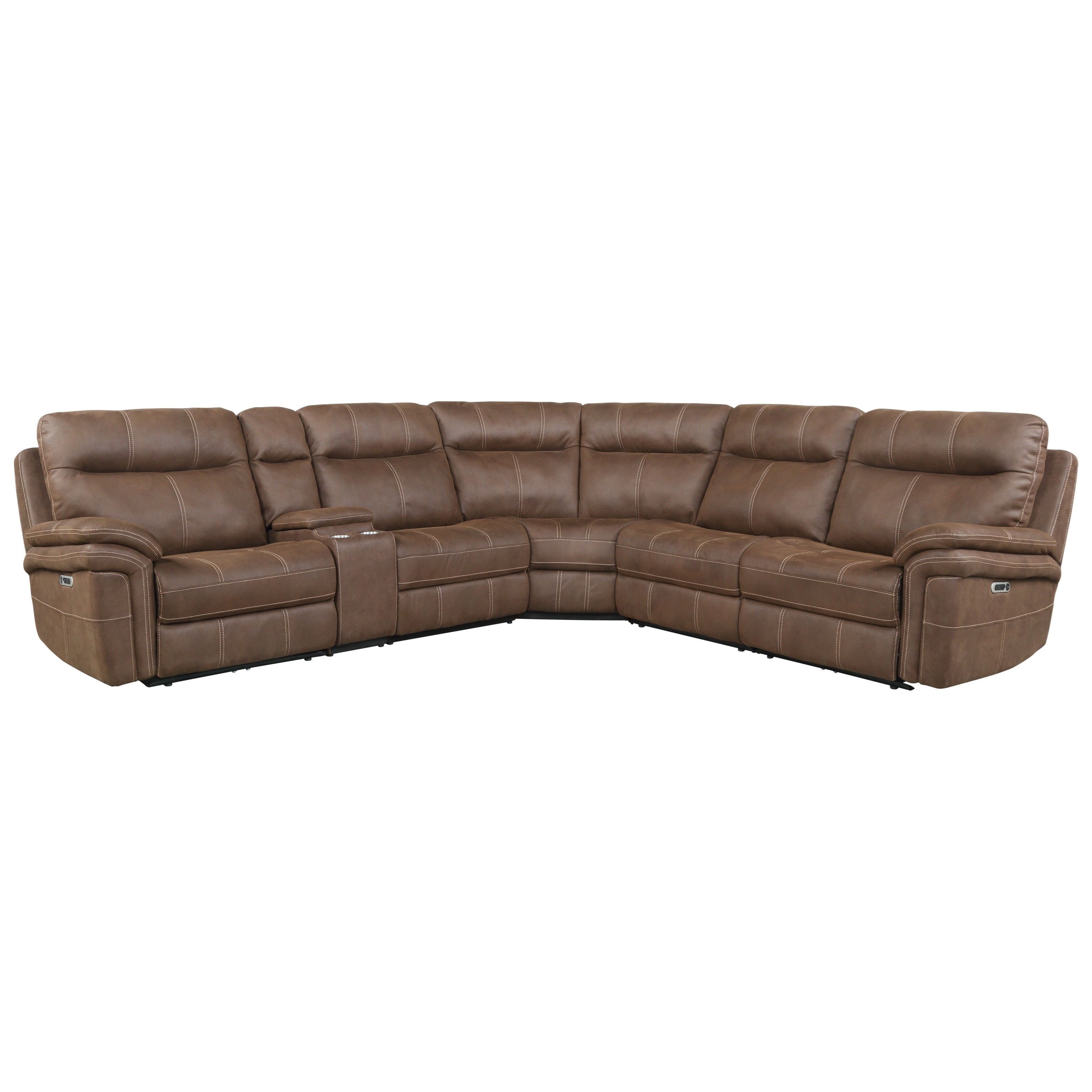 Mason Power Reclining Sectional by Parker Living at Suburban Furniture