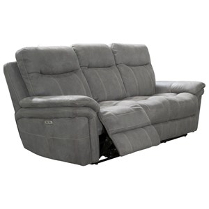 Casual Dual Recliner Power Sofa with USB Ports