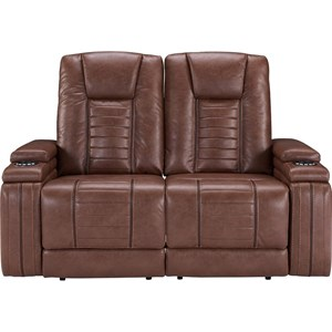 Contemporary Power Reclining Loveseat with Built-In USB Ports