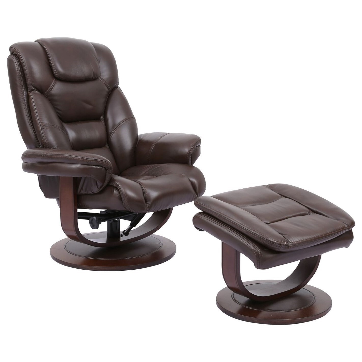 Monarch Swivel Recliner & Ottoman by Parker Living at Zak's Home