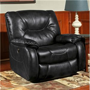 Argus Leather Match Power Recliner with Pillow Arms