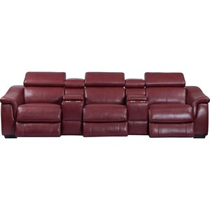 Contemporary Power Reclining Modular Theater Seating
