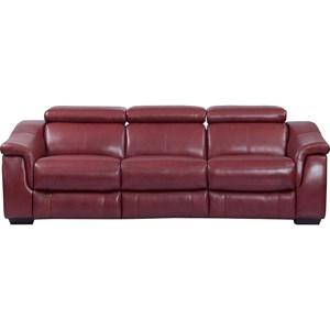 Contemporary Power Reclining Modular Sofa with Ratchet Headrests