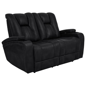 Power Reclining Loveseat with Adjustable Headrests