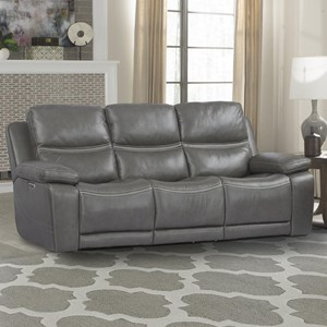 Power Reclining Sofa with Power Headrest and Lumbar Support