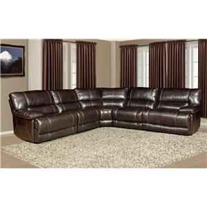 5 Seater Power Reclining Sectional Sofa with Large Pillow Arms