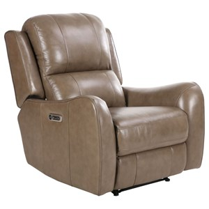 Casual Power Recliner with USB and Power Headrest