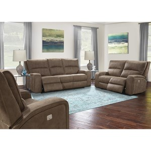 Power Reclining Living Room Group with Power Headrests and USB Charging Ports