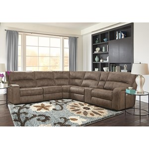 Power Reclining Sectional with Power Headrests and USB Charging Ports