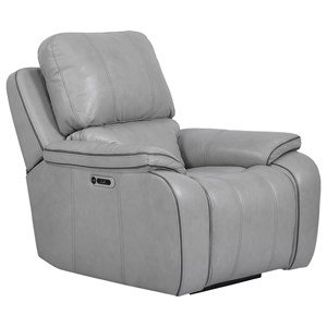 Contemporary Power Recliner with USB Port and Power Headrest
