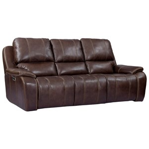 Contemporary Power Reclining Sofa with USB Ports and Power Headrests