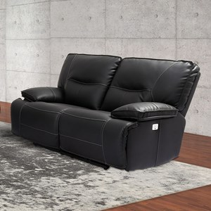 Power Dual Reclining Loveseat with Power Headrests and USB Ports