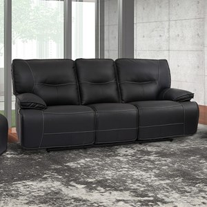 Power Dual Reclining Sofa with Power Headrests and USB Ports
