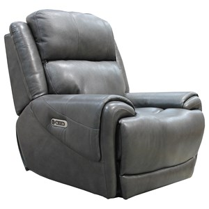 Casual Power Recliner with Power Headrest and USB Charging Port