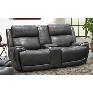 Power Dual Reclining Console Loveseat with Power Headrest and USB Charging