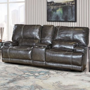 Dual Power Reclining Loveseat with Power Headrest and USB Port