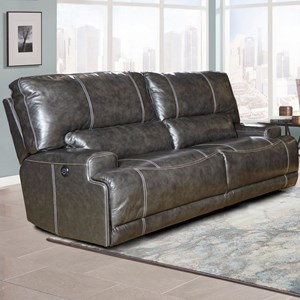 Dual Power Reclining Sofa with Power Headrest and USB Port