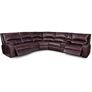 Casual Power Reclining Sectional Sofa with Power Headrests