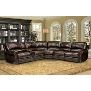 Traditional Sectional Sofa with Rolled Arms