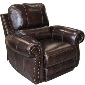 Traditional Power Recliner with Nail Head Trim