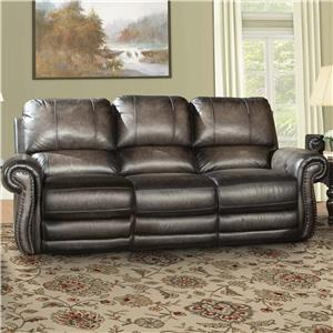 Traditional Power Reclining Sofa with Nail Head Trim