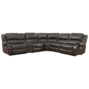 Power Reclining Sectional with Console