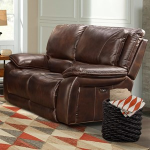 Casual Dual Power Reclining Loveseat with Power Headrests