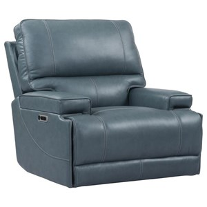 Contemporary Power Cordless Recliner with Power Headrest and USB Port